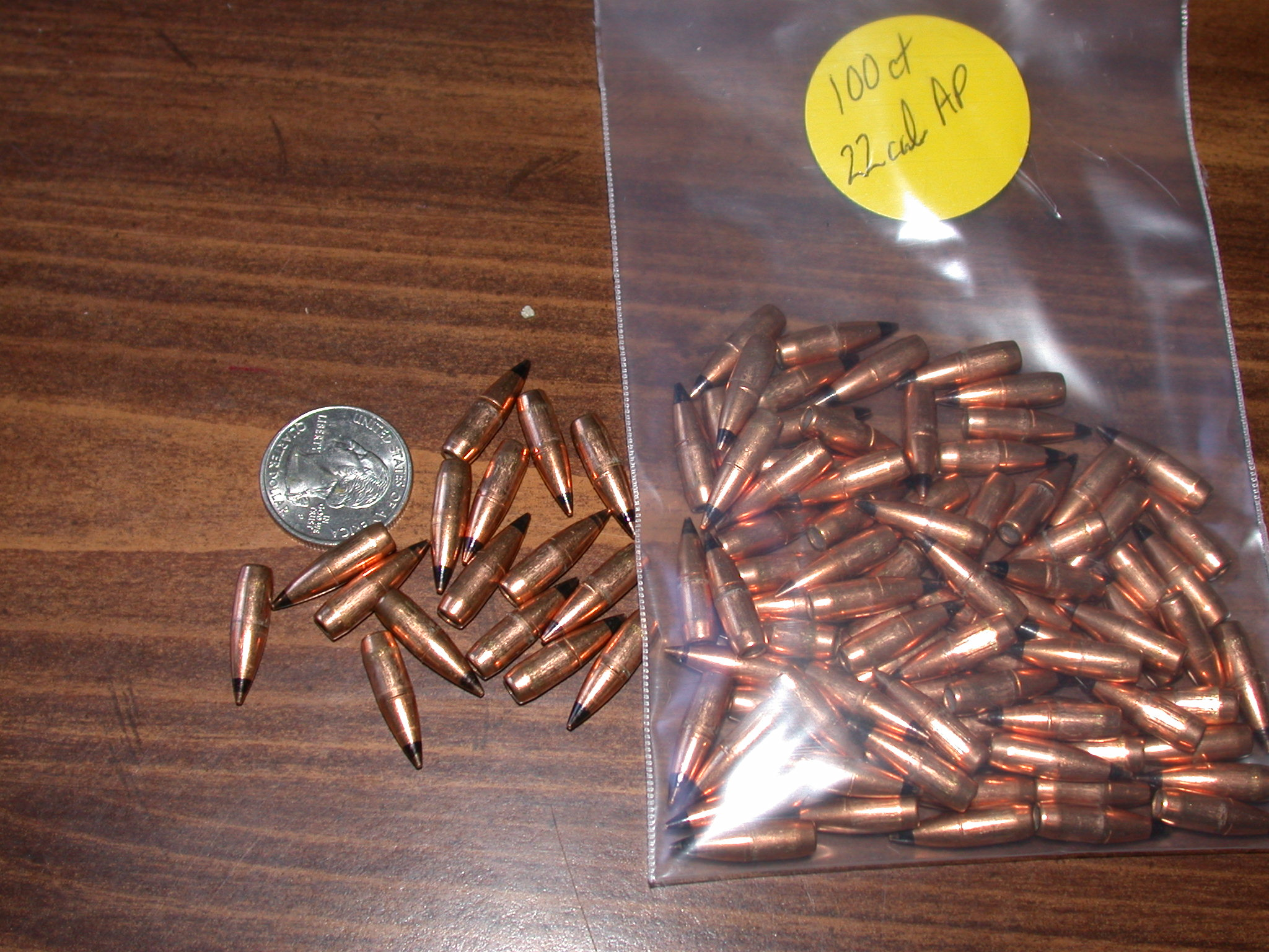 22 Cal AP projectiles